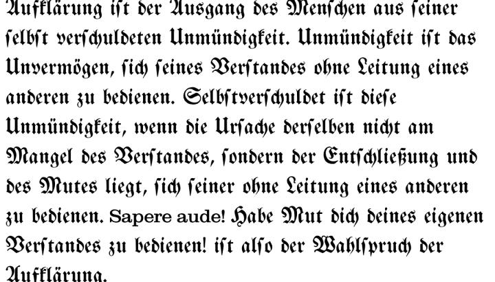 Frakturフラクトゥール文字