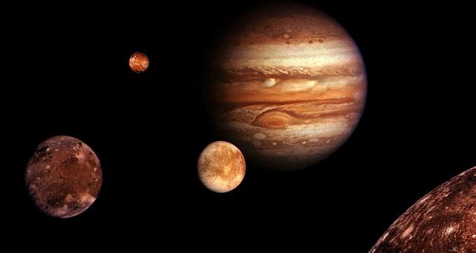 Jupyter Notebook 木星の衛星と環