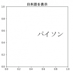 [Matplotlib] 日本語を表示する方法