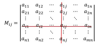 Aの余因子 (cofactor)