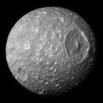 [Python eye-catching image] mimas (衛星ミマス)