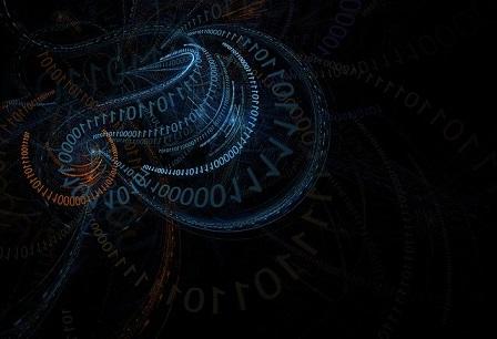 Python画像:01コードの螺旋