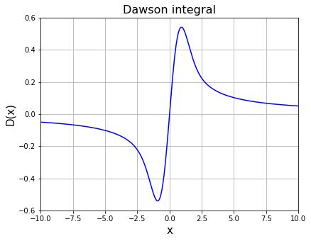 Dawson integral (ドーソン積分)