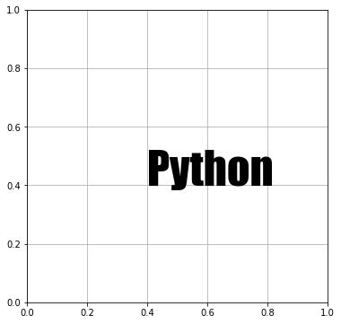 """Matplotlib フォントの種類に """"Impact"""" を指定"""